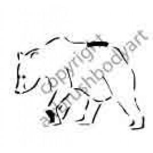 0277 bear reusable stencil